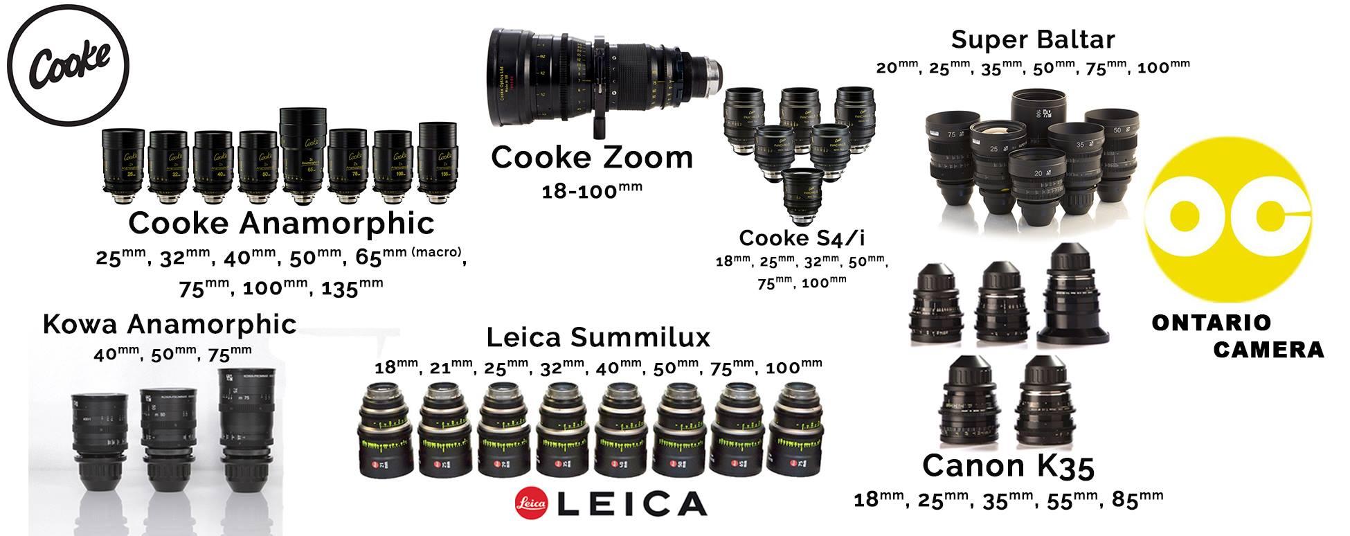 cinema lens rentals toronto