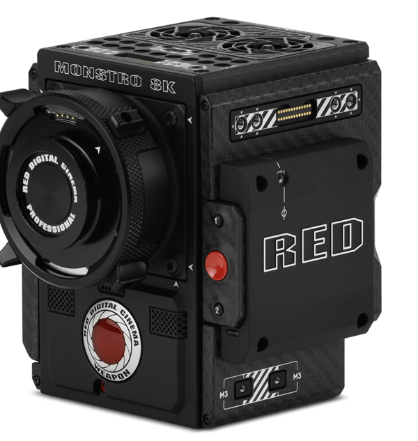 WEAPON® now comes with the option of a MONSTRO™ 8K VV sensor. Capable of shooting motion and stills in 8K 2.4:1 at up to 75 frames per second (fps), or 8K Full Format at 60 fps—WEAPON 8K VV™ delivers cinematic image quality with a sensor size of 40.96 mm x 21.60 mm. At full 8K resolution, the MONSTRO sensor captures 35.4 Megapixel motion and stills with low noise and now ships with IPP2, RED's improved image processing pipeline. WEAPON 8K VV provides the most advanced VFX solution with next-level creative flexibility. Blazing-fast 300 MB/s data rates allow you to take advantage of the best possible REDCODE® settings — and record proxy 4K Apple ProRes or 4K Avid DNxHR formats, simultaneously. As a member of the DSMC2® camera lineup, WEAPON 8K VV benefits from the advanced modularity of the RED ecosystem. Featuring cable-free peripherals, an integrated mounting plate, wireless control, and compatibility with a growing number of DSMC2 modules and accessories. WEAPON also supports interchangeable OLPFs and lens mounts—empowering you to make the most of all of your VV compatible PL and Canon lenses.